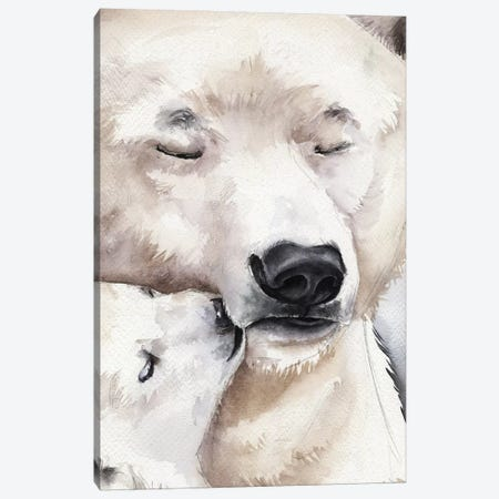 Polar Bear Canvas Print #KIB48} by Kira Balan Canvas Artwork
