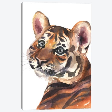 Tiger Canvas Print #KIB50} by Kira Balan Canvas Art Print