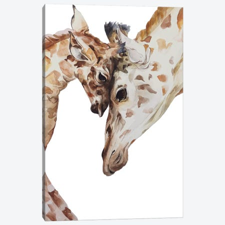 Giraffe Canvas Print #KIB6} by Kira Balan Canvas Artwork