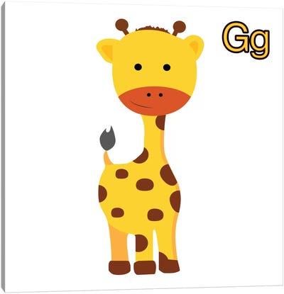 G is for Giraffe Canvas Print #KID10