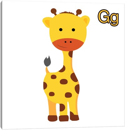G is for Giraffe Canvas Art Print