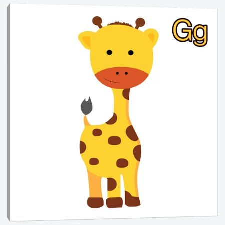 G is for Giraffe 3-Piece Canvas #KID10} by 5by5collective Canvas Art Print