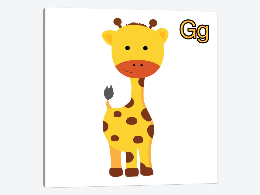 G is for Giraffe by 5by5collective 1-piece Art Print