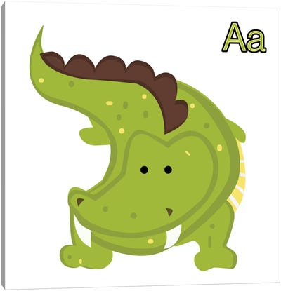A is for Aligator Canvas Art Print