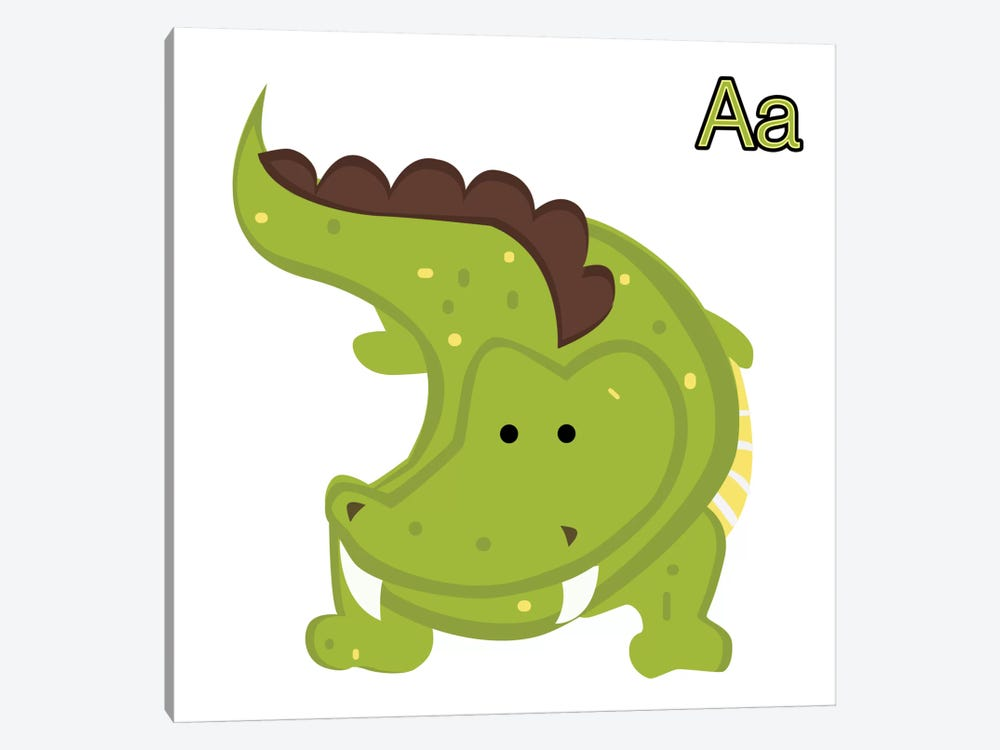 A is for Aligator by 5by5collective 1-piece Canvas Art
