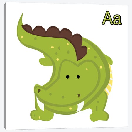A is for Aligator Canvas Print #KID11} by 5by5collective Canvas Print