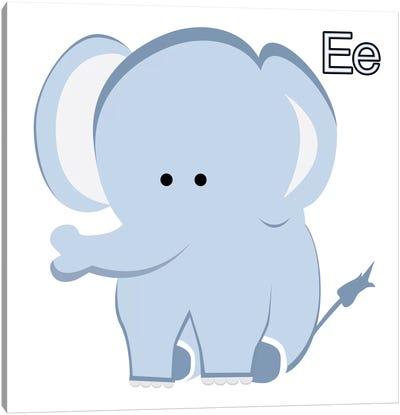 E is for Elephant Canvas Print #KID13