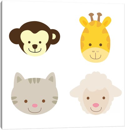 Animal Farm III Canvas Print #KID17
