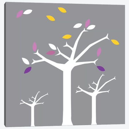 Autumn Trees Gray Canvas Print #KID18} by 5by5collective Canvas Art Print