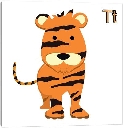 T for Tiger Canvas Art Print
