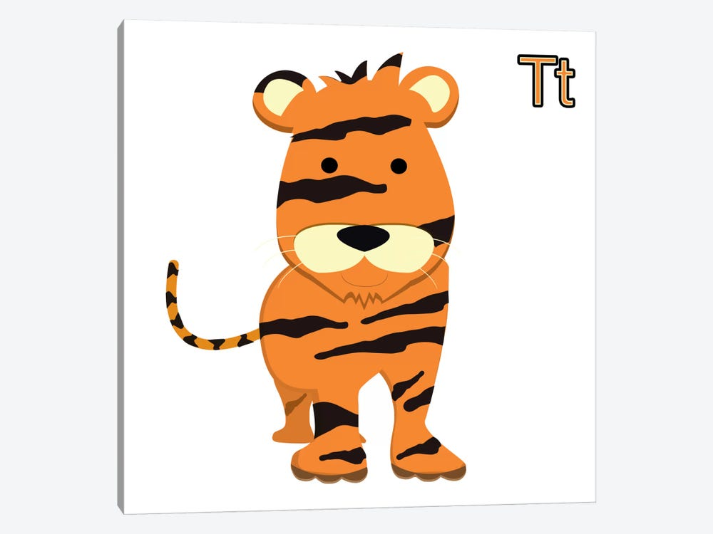 T for Tiger by 5by5collective 1-piece Canvas Print