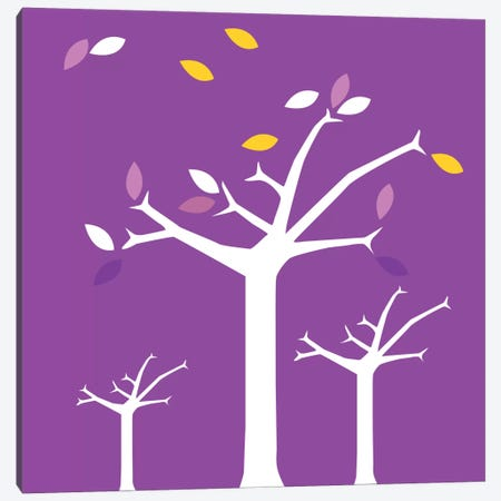 Autumn Trees Purple Canvas Print #KID20} by 5by5collective Canvas Artwork
