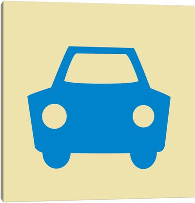 Beep Beep Blue Car Canvas Art Print