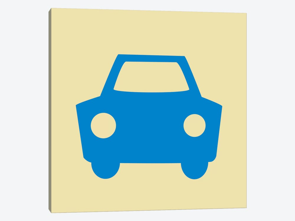 Beep Beep Blue Car by 5by5collective 1-piece Art Print