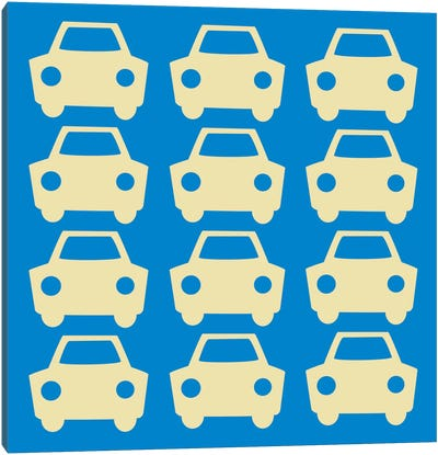Beep Beep Blue Cars Canvas Art Print