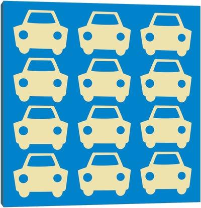 Beep Beep Blue Cars Canvas Art Print
