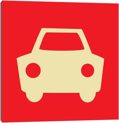 Beep Beep Red Car Canvas Art Print