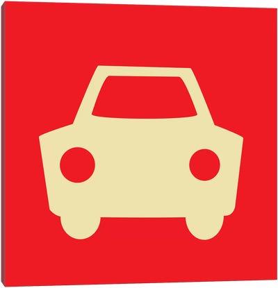 Beep Beep Red Car Canvas Art Print