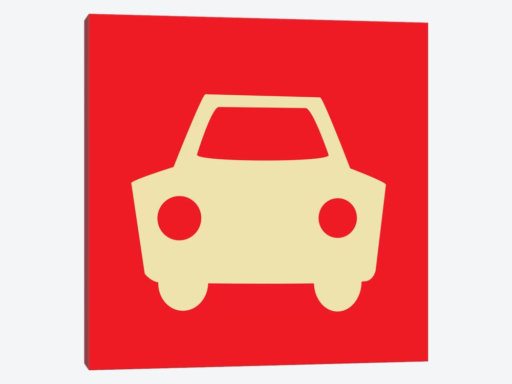 Beep Beep Red Car by 5by5collective 1-piece Canvas Print