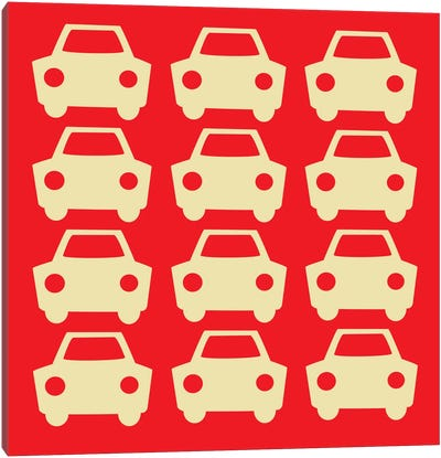 Beep Beep Red Cars Canvas Art Print