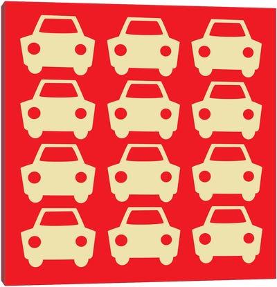 Beep Beep Red Cars Canvas Art Print
