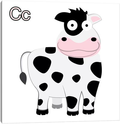 C is for Cow Canvas Art Print