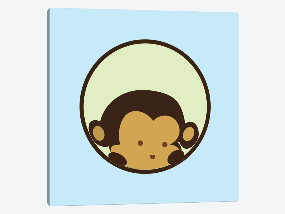 Monkey Face Blue by 5by5collective 1-piece Canvas Artwork