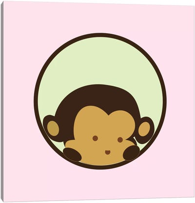 Monkey Face Pink Canvas Art Print