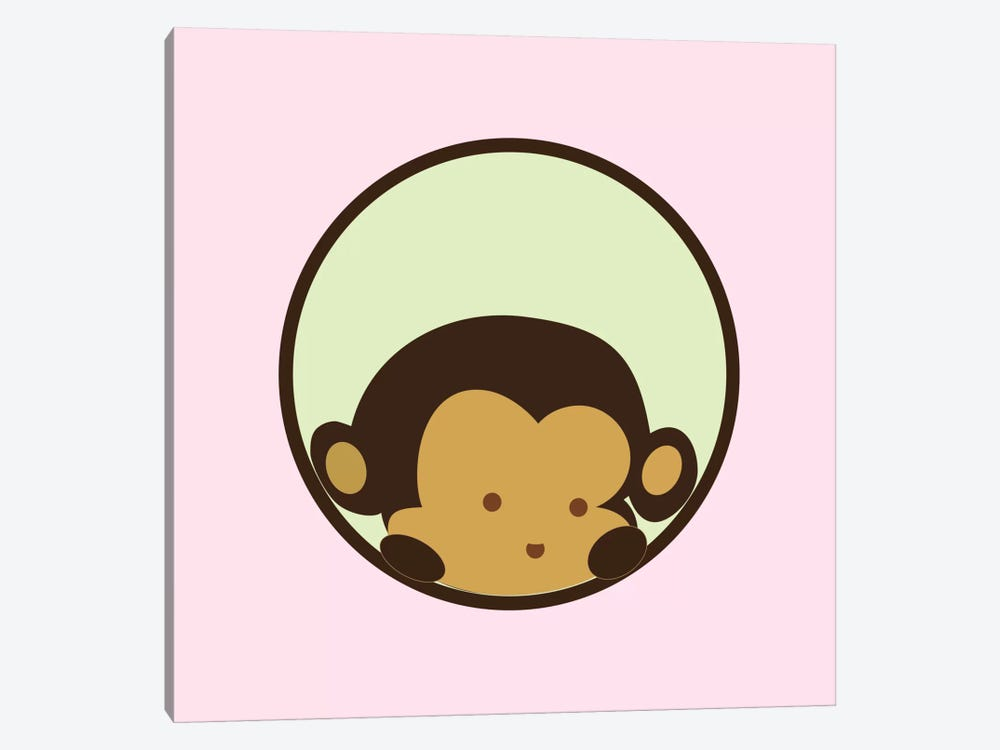 Monkey Face Pink by 5by5collective 1-piece Art Print