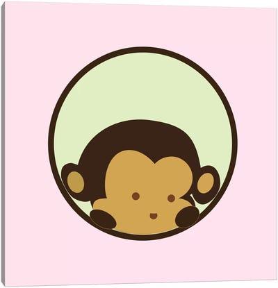 Monkey Face Pink Canvas Art Print