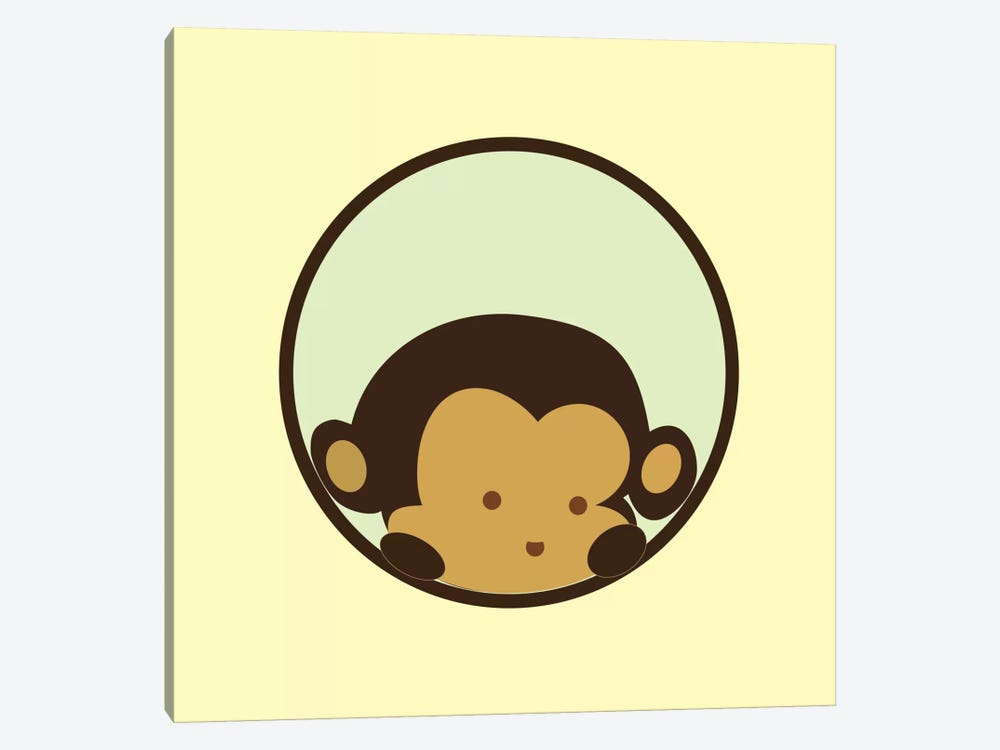 Monkey Face Yellow 1-piece Canvas Wall Art