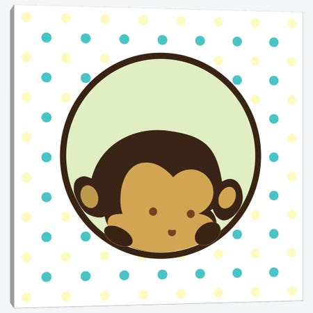 Monkey Face Spots Canvas Print #KID36} by 5by5collective Canvas Artwork