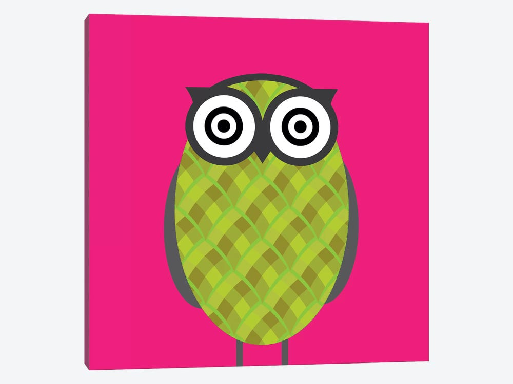 Owl Pink by 5by5collective 1-piece Art Print
