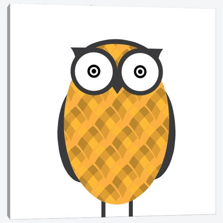 Owl Orange Canvas Print #KID39} by 5by5collective Canvas Print
