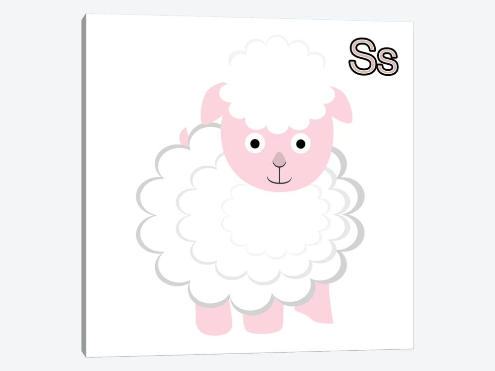 S is for Sheep by 5by5collective 1-piece Art Print