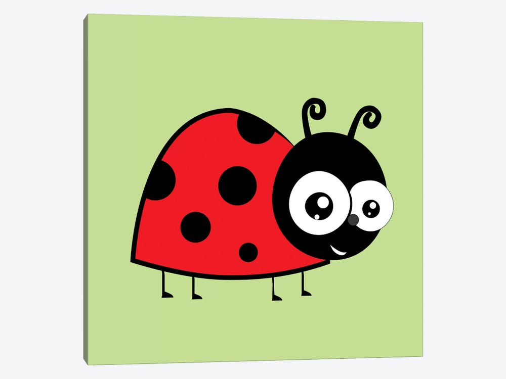 Lady Bug Green by 5by5collective 1-piece Canvas Artwork