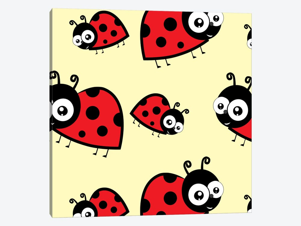 Lady Bug Yellow by 5by5collective 1-piece Art Print