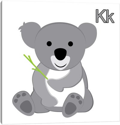 K is for Koala Canvas Art Print