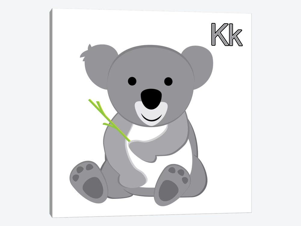 K is for Koala by 5by5collective 1-piece Canvas Print