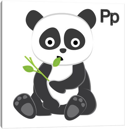 P is for Panda Canvas Art Print