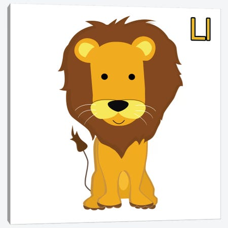 L is for Lion Canvas Print #KID7} by 5by5collective Canvas Artwork