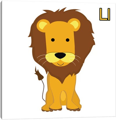 L is for Lion Canvas Art Print