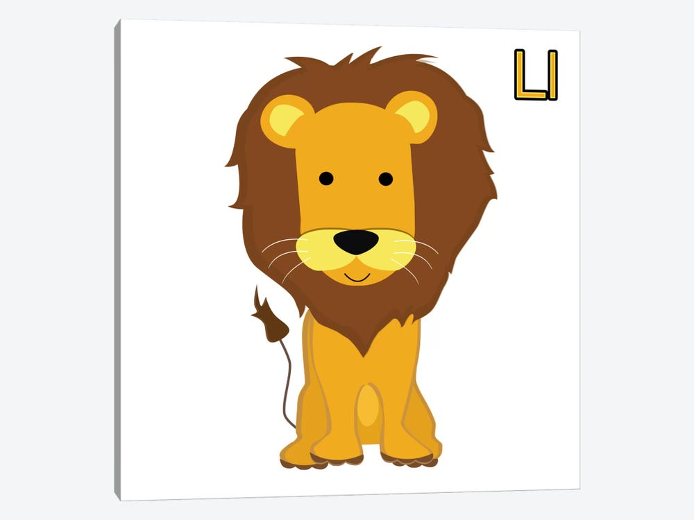 L is for Lion by 5by5collective 1-piece Art Print