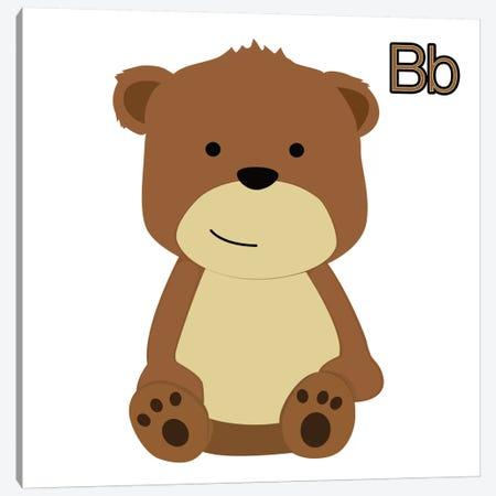 B is for Bear Canvas Print #KID8} by 5by5collective Art Print