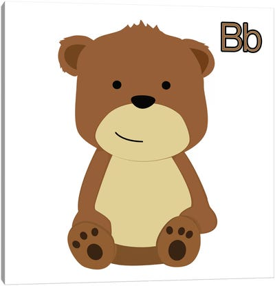 B is for Bear Canvas Art Print