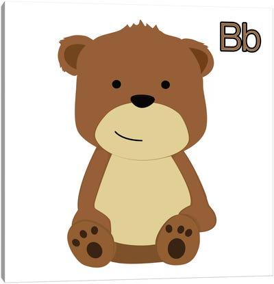 B is for Bear Canvas Art Print