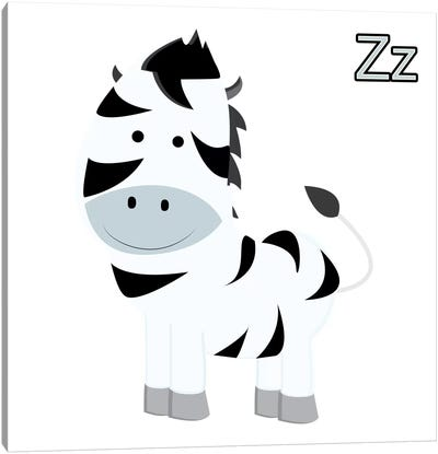 Z is for Zebra Canvas Art Print