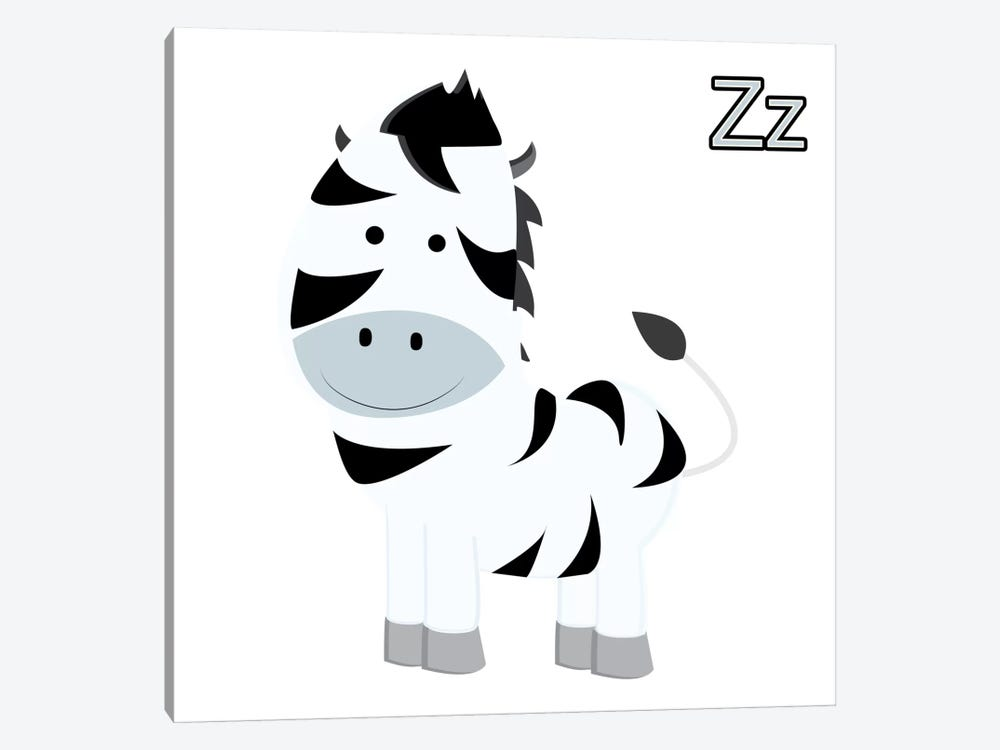 Z is for Zebra by 5by5collective 1-piece Art Print