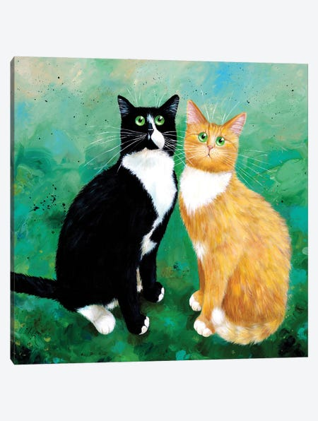 Milo And Archie Canvas Print #KIH109} by Kim Haskins Canvas Art Print