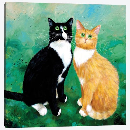 Milo And Archie Canvas Print #KIH109} by Kim Haskins Canvas Art Print